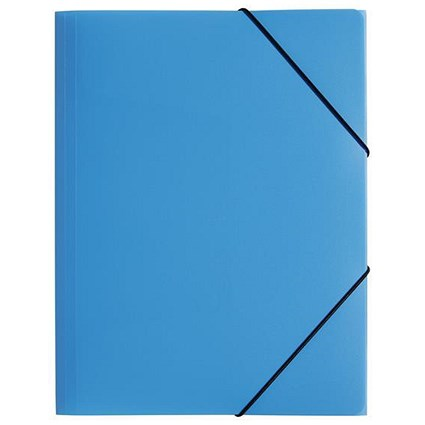 Pagna Elasticated Files / 3-Flap / A4 / Light Blue / Pack of 10