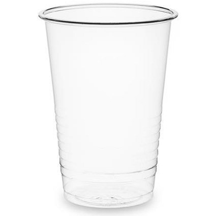 Vegware Plastic Water Cups, 7oz, Clear, Pack of 100