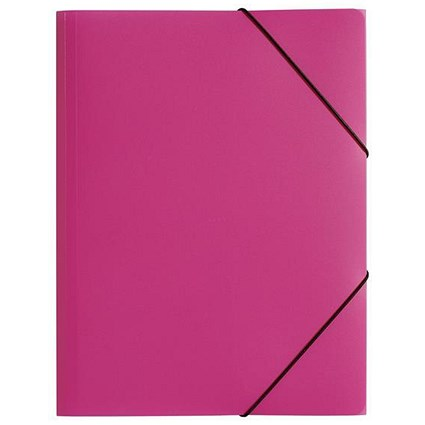 Pagna Elasticated Files / 3-Flap / A4 / Pink / Pack of 10