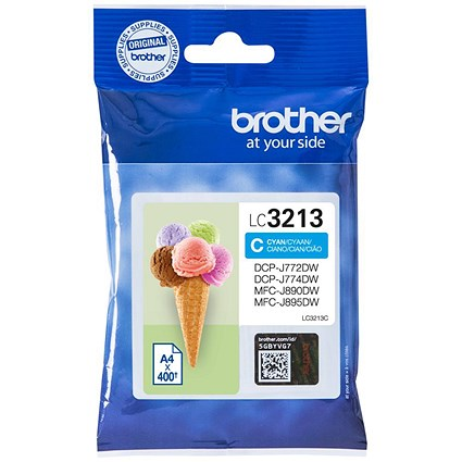 Brother LC3213C Cyan High Yield Inkjet Cartridge