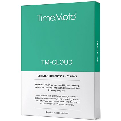 Safescan TimeMoto TM Cloud Essentials Time & Attendance System - 25 Users