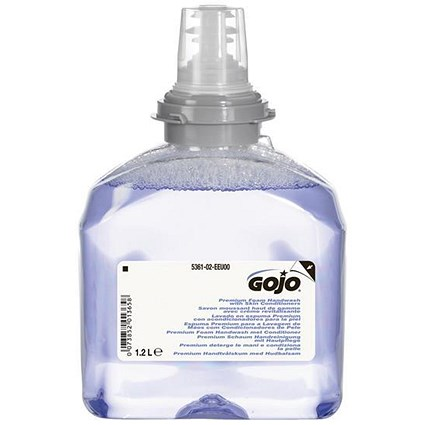 Gojo Foam Soap Hand Wash with Conditioner Refill / 1200ml / Pack of 2