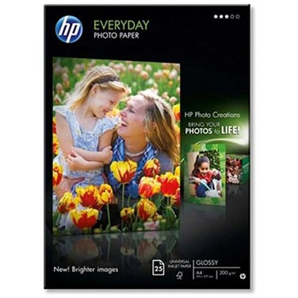 HP A4 Advance Glossy Photo Paper / 200gsm / 25 Sheets
