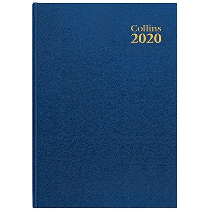 Collins 2020 Royal Desk Diary, Day to a Page, A5, Blue