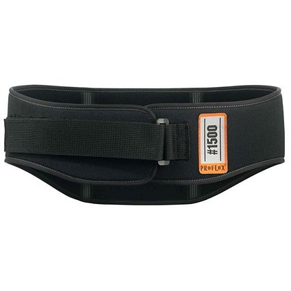 Ergodyne 1500 Back Support Belt, Small, Black