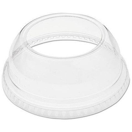 Solo Domed Cup Lid / Top Hole / Clear / Pack of 100