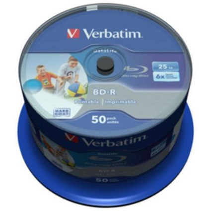 Verbatim Blu-Ray BD-R 25GB Recordable Discs / Pack of 50