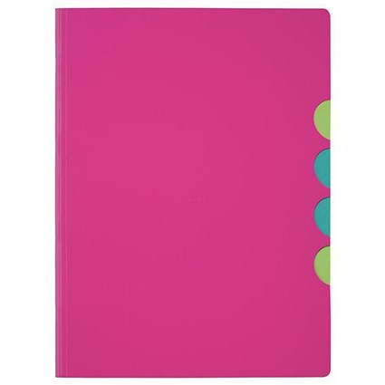 Pagna Millenial Files / Set of 5 / A4 / Pink / Pack of 5