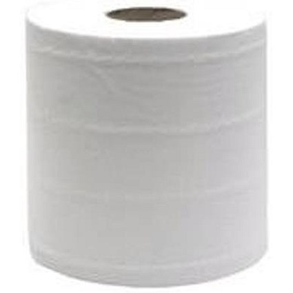 Maxima 4695 Centrefeed Rolls / 2-Ply / White / Pack of 6