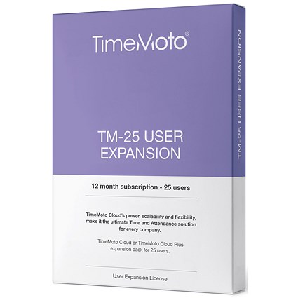 Safescan TimeMoto TM Cloud User Expansion - 25 Users
