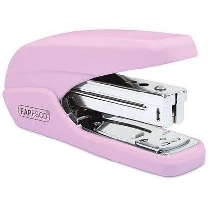 Rapesco X5-25ps Stapler / Capacity: 25 Sheets / Pink