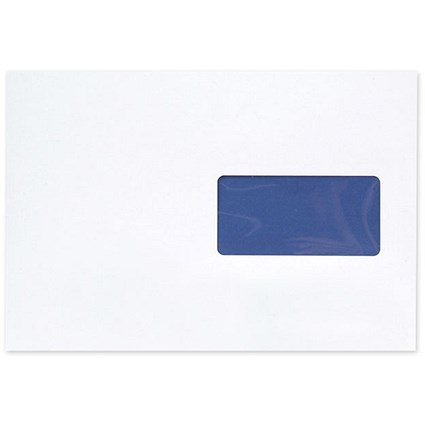 Blake C5 Premium Pure Pocket Envelopes with Window, Peel & Seal, 120gsm, Super White Wove, Pack of 500