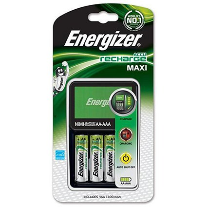 Energizer Maxi Battery Charger with 4x AA 2000mAh Batteries