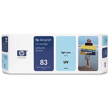 HP 83 Light Cyan UV Ink Cartridge