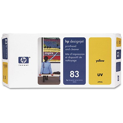 HP 83 Yellow UV Printhead and Printhead Cleaner