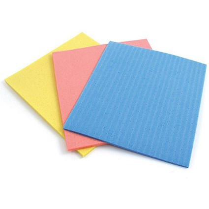 5 Star Sponge Cloths Cellulose / Assorted / Pack of 18