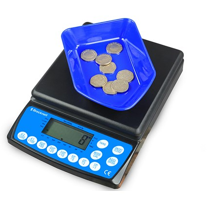Brecknell Coin Counter Electronic Checking Scale for all UK Coins