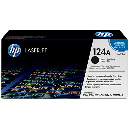 HP 124A Black Laser Toner Cartridge