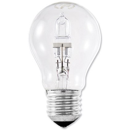 GE Bulb Halogen 77W E27 GLS Screw Fitting Energy Saving Dimmable Clear