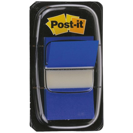 Post-it Index Flags, Blue, Pack of 12 x 50