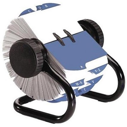 Rolodex Classic 500 Rotary File Metal Open with 500 57x102mm Cards - Black