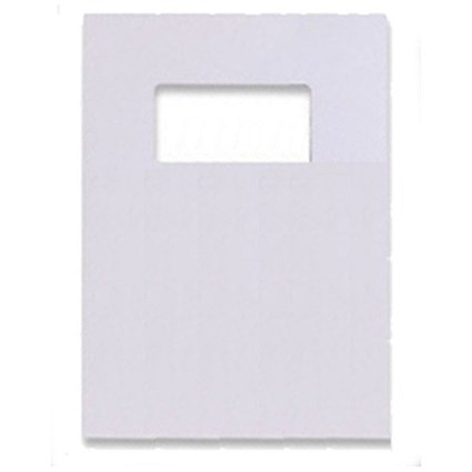 GBC Binding Covers with Window / 250gsm / White / A4 / Leathergrain / Pack of 25 Pairs