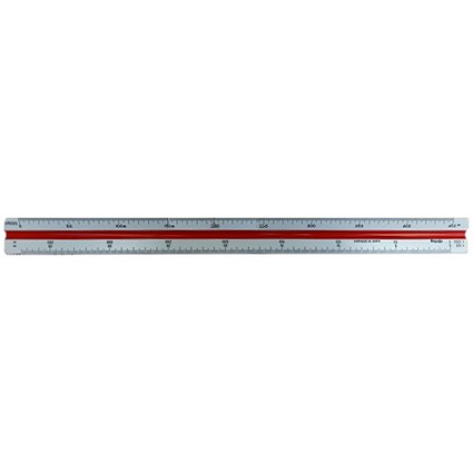 Rotring Triangular Reduction Scale Ruler / 6 Surveying from 1-500 to 1-2500