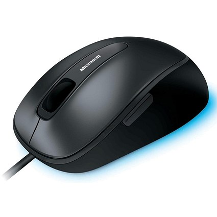 Microsoft Comfort 4500 Mouse, Corded, USB, Ambidextrous with Scroll Wheel 5-button