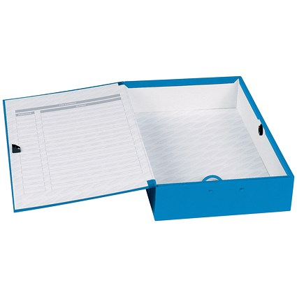 Concord Classic Box File / 75mm Spine / Foolscap / Blue / Pack of 5
