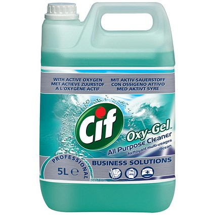 Cif Professional Oxygel All Purpose Cleaner, Ocean, 5 Litres