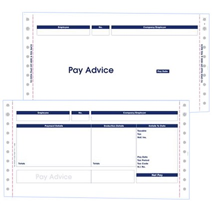 Pegasus Compatible Secure Pay Advice / 3 Part / W241xH127mm / Box of 1000
