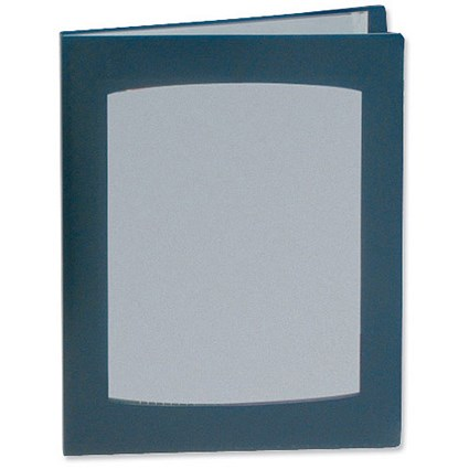 Rexel Clearview Display Book / A4 / 24 Pockets / Blue