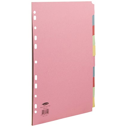 Concord Subject Dividers / Extra Wide / 10-Part / A4 / Assorted