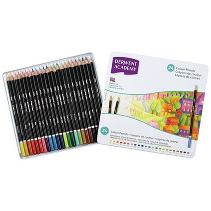 Derwent Academy Colouring Pencils / Assorted Colours / Pack of 24