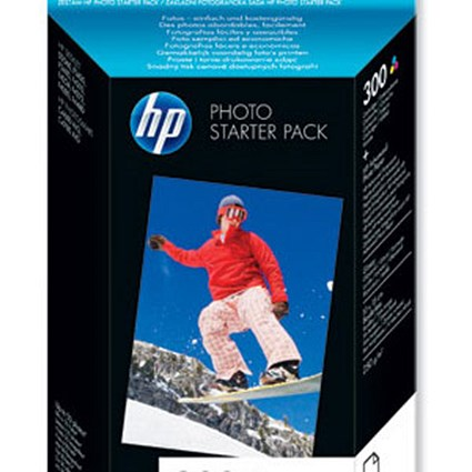 HP 300 Photo Starter Pack - Includes 1 Tri-Colour Cartridge and 50 sheets of 10x15cm Paper