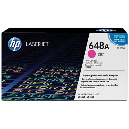 HP 648A Magenta Laser Toner Cartridge