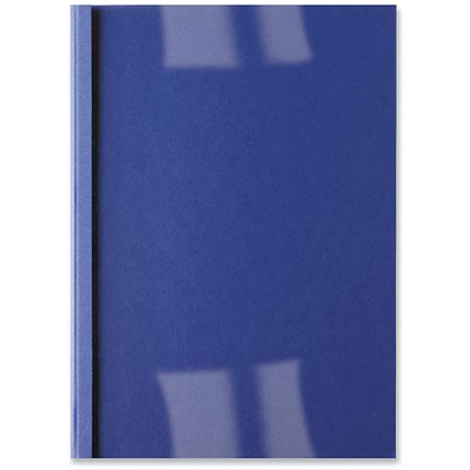 GBC Thermal Binding Covers / 1.5mm / Front: Clear / Back: Royal Blue Leathergrain / A4 / Pack of 100
