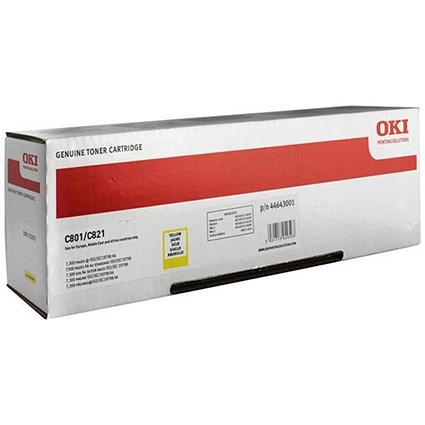 Oki 44643001 Yellow Laser Toner Cartridge