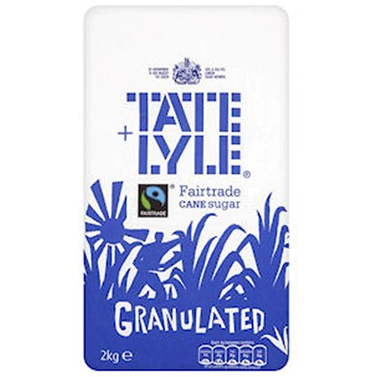 Tate and Lyle Granulated Pure Cane Sugar - 2kg Bag