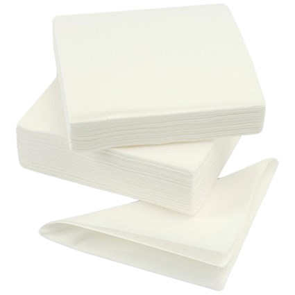 High Quality Single Ply Napkins, 390x390m, White, Pack of 600