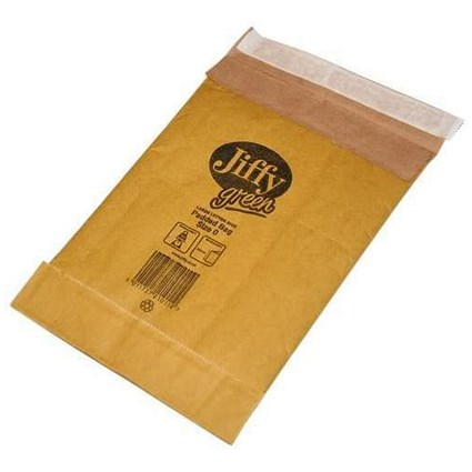 Jiffy No.0 Padded Bag Envelopes, 140x195mm, Brown, Pack of 200