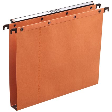 Elba Ultimate A20 Suspension Files, Square Base, 30mm Capacity, Foolscap, Orange, Pack of 25