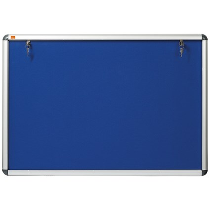 Nobo Display Cabinet Noticeboard, Lockable, A1, W1025xH745mm, Blue