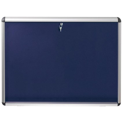 Nobo Display Cabinet Noticeboard / Lockable / A0 / W1255xH965mm / Blue