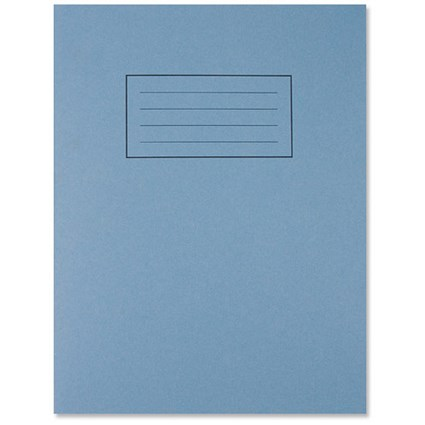 Silvine Ruled Exercise Book / 229x178mm / 80 Pages / Blue / Pack of 10