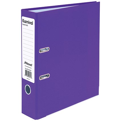 Rexel Karnival A4 Lever Arch Files / Violet / Pack of 10