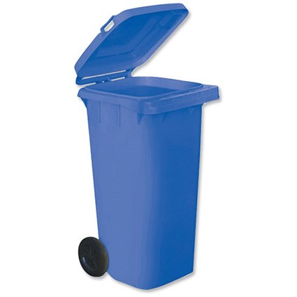Wheelie Bin with Rear Wheels / 120 Litre / Blue
