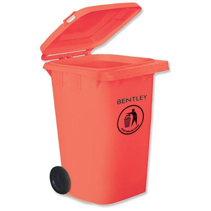 Wheelie Bin with Rear Wheels / 240 Litre / Red