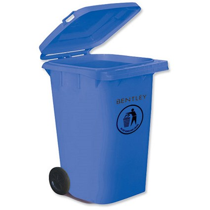 Wheelie Bin with Rear Wheels / 240 Litre / Blue