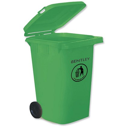 Wheelie Bin with Rear Wheels / 240 Litre / Green